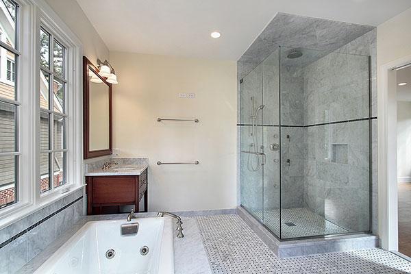 Glass shower door residential